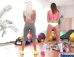 Big Tits Lesbian Gym Sex Orgasms(Barbara Bieber &amp_ Blanche Bradburry) 01 vid-06