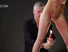 Girl punished with candles