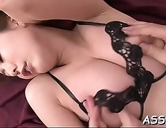 Anal toying with unfathomable doggy position