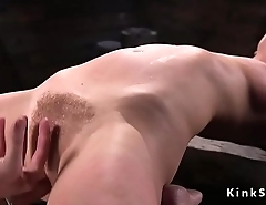 Victorian pussy slave gets dildo fucked