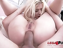 Big Booty cock mongerAnna Rey 3on1 airtight Savage Double Anal