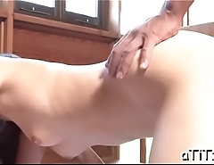 Busty asian'_s electrifying oral-job