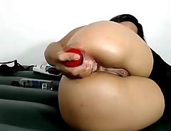 extreme camslut fucks ass til squirting big anal gape - analcams.tv