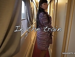 Naughty in the train