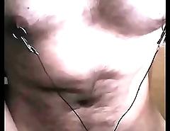 urethral sounding nipple electro stim cum