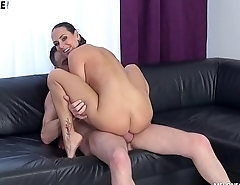 Stud'_s Tryouts With Mea Melone'_s Mouth and Pussy