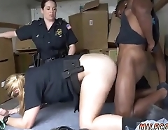 Big natural tits milf scissoring Black suspect taken on a rough ride