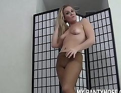 I bet my pantyhose make you want less cum JOI
