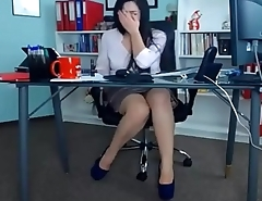 Sexy Milf Playing At Work