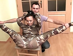 Acrobatic sex for elastic girl fucked by a immutable cock