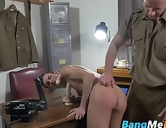 Disobeying twink soldier gets bareback orders from officer