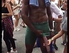 Bigcock Black mamba show in public
