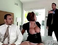 Sexy bitch sucks and rides cock