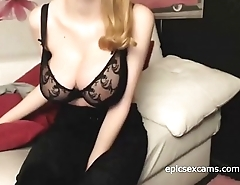 Redhead Shows Off Her Massive Natural Tits On Webcam ~epicsexcams.com~