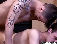 Inked english punks assfucking ever other