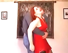 Pee Desperate Wife Is Forced Dance With Her Husband