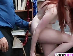 Cute Gal Krystal Nails With Needy Officer