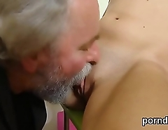 Kissable college girl gets tempted and fucked wide of her elderly lecturer