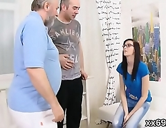 Stud assists with hymen check-up coupled with riding of fresh sweetie