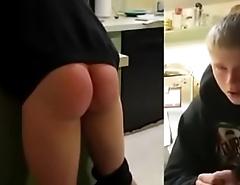 Blonde boy spanked so hard