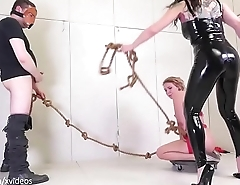 Tug of Whore: yanked back together with forth for blowjobs together with punishment (Olivia Kasady)