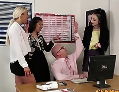British doms tugging outwait in breakroom group