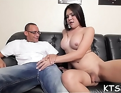 Tranny slattern in wicked booty fucking