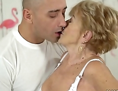 Nasty granny loves hardcore fuck - Malya and Mugur