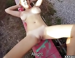Cutie amateur european whore seduces tourist in public 27