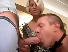 Husband-slave is sucking a friend of his wife 821892 240p