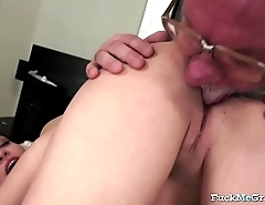 Sexy Chick Enjoys Grandpa'_s Cock