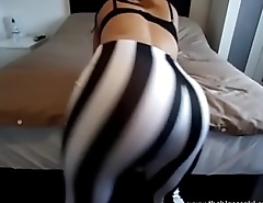 stripey leggings