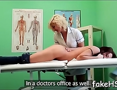 Bewitching doctor gets drilled hard