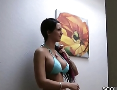 German Teen Whore Fucked by Stranger with the addition of Cum on Big Tits