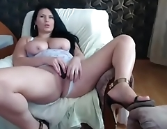 Sexy girl teasing pussy with penny-pinching pants
