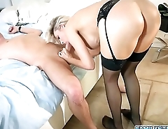 Sexy cougar Blake Morgan seduces her hot stepson