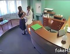 Sexy doctor is about to be conscious of fun sex