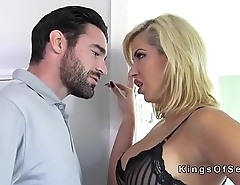 Sexy busty blonde Milf rough fucked