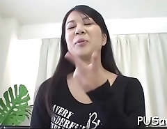 Japanese playgirl gets a hard fuck