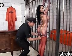 Fat Tit Latina Missy Martinez gives Handjob Release