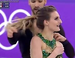DOWNBLOUSENOW.COM - Gabriella Papadakis Olympics nipslip