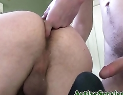 Finger banged marine anally pounded