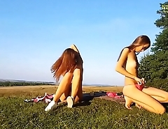 Real Amateur German sisters playing outdoor - nizzers.com