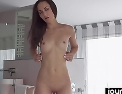 Joymii- hot babe Lilu rides big dildo and imagines her stepbrothers cock