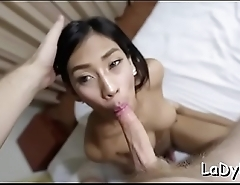 Talented shemale fucks intensely