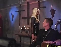 Blonde busty shemale ass fucks before jerking