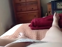 mature woman is excited masturbating
