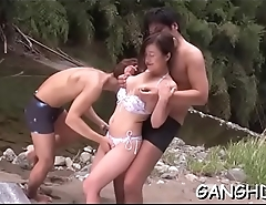 Hot asian'_s lusty group sex