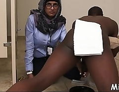 Massive dark wang be incumbent on an arab babe