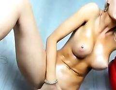 Teen blonde big boobs masturbate squirt